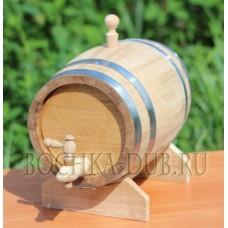 Дубовая бочка (колотый дуб) - 5 литров