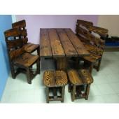 Стол деревянный состаренный 2