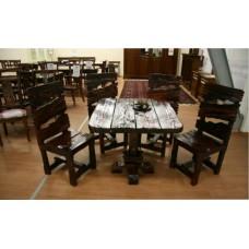 Стол деревянный состаренный 3